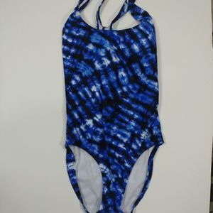 Speedo racerback swimsuit size 8 blue